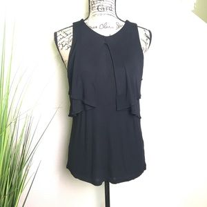 NWT H&M black tank with layering details